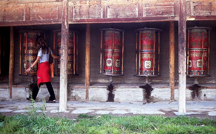 The Prayer Wheels: Xiahe -- Labrang Si, Gansu, People's Republic of China : People You Meet; Temples.