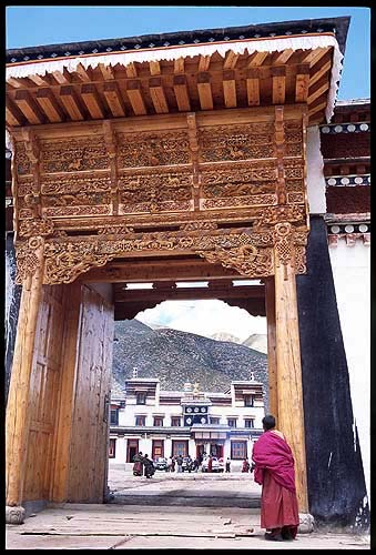Through the gate.: Xiahe -- Labrang Si, Gansu, People's Republic of China : Temples; People You Meet.