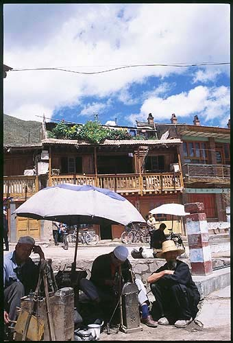 Roadside service.: Xiahe -- Labrang Si, Gansu, People's Republic of China : Food Stalls and Markets; People You Meet.