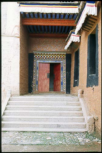 Welcome home.: Xiahe -- Labrang Si, Gansu, People's Republic of China : Details; Buildings.