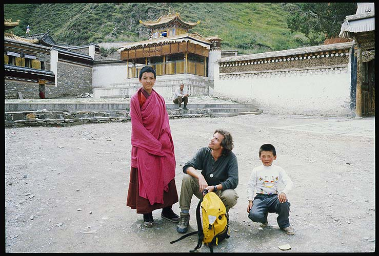 Me, and some new friends.: Xiahe -- Labrang Si, Gansu, People's Republic of China : People You Meet; The Author.