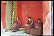 Three young monks.