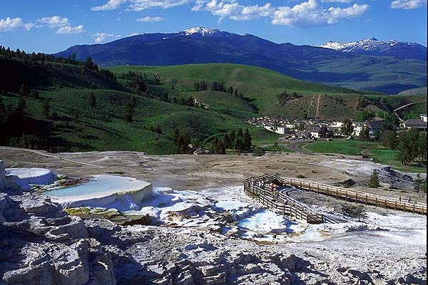 Mammoth Hot Springs<br>Yellowstone National Park<br>Wyoming, USA: Yellowstone National Park, Wyoming, United States of America : Landscapes; Geological Formations.