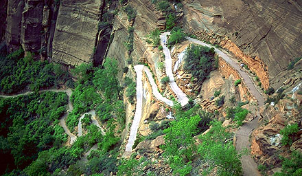 The path to Angel's Landing<br>Zion National Park<br>Utah, USA: Zion National Park, Utah, United States of America .