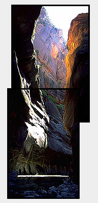 The Narrows<br>Zion National Park<br>Utah, USA: Zion National Park, Utah, United States of America : Canyons; Rivers.