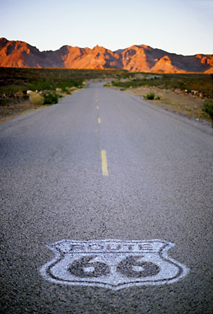 The Shield<br>Below the South Pass, Arizona: Arizona Route 66, Arizona, United States of America : On The Road; Geological Formations.