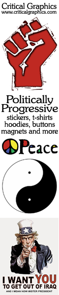 Critical Graphics: Politics and Spirit -- peace, political, philosophy and spiritual on t-shirts, buttons, stickers & more